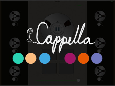 iCappella launch screen I made.