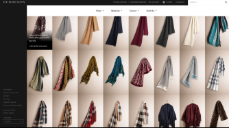 Color ideas from higher end fashion retailer, Burberry.